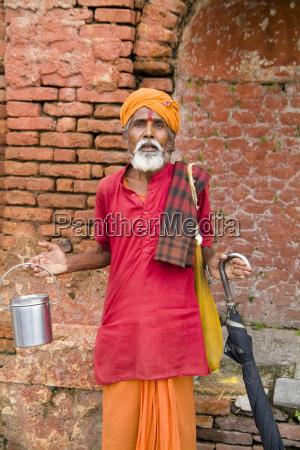 nepal kathmandu religious man at pashupatinath