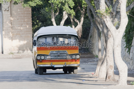 traditional maltese bus on the terminus