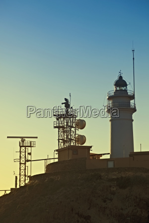 lighthouse and communications apparatus on the