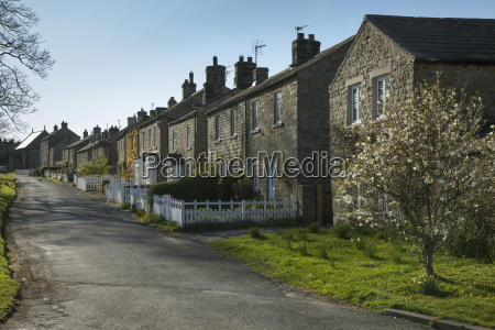 houses along a street east witton