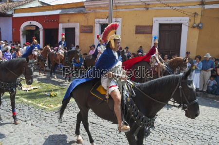 men dressed as roman soldiers on