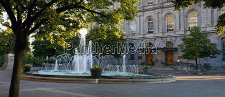 fountain in place vauquelin at montreal
