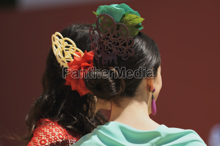 woman with decorated hairstyles for the