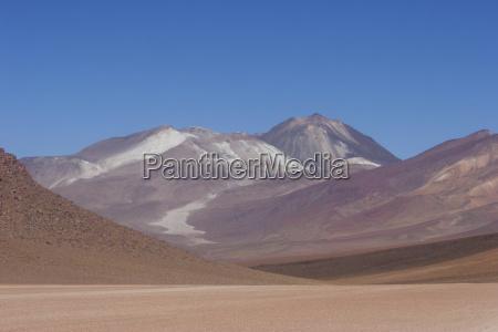 multi coloured volcanic landscape of the