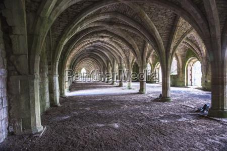 cellarium at fountains abbey aldfield north