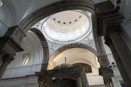 dome ceiling inside the cathedral of
