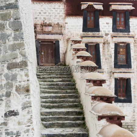 china xizang lhasa potala palace old