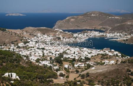 greece patmos island mykonos view from