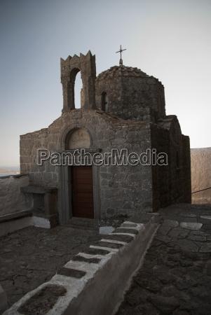 greece patmos island mykonos chapel in