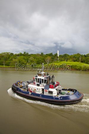 panama panama canal view of tug