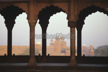 india view of red fort from