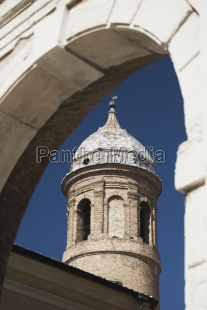 basilica di san vitale turret with