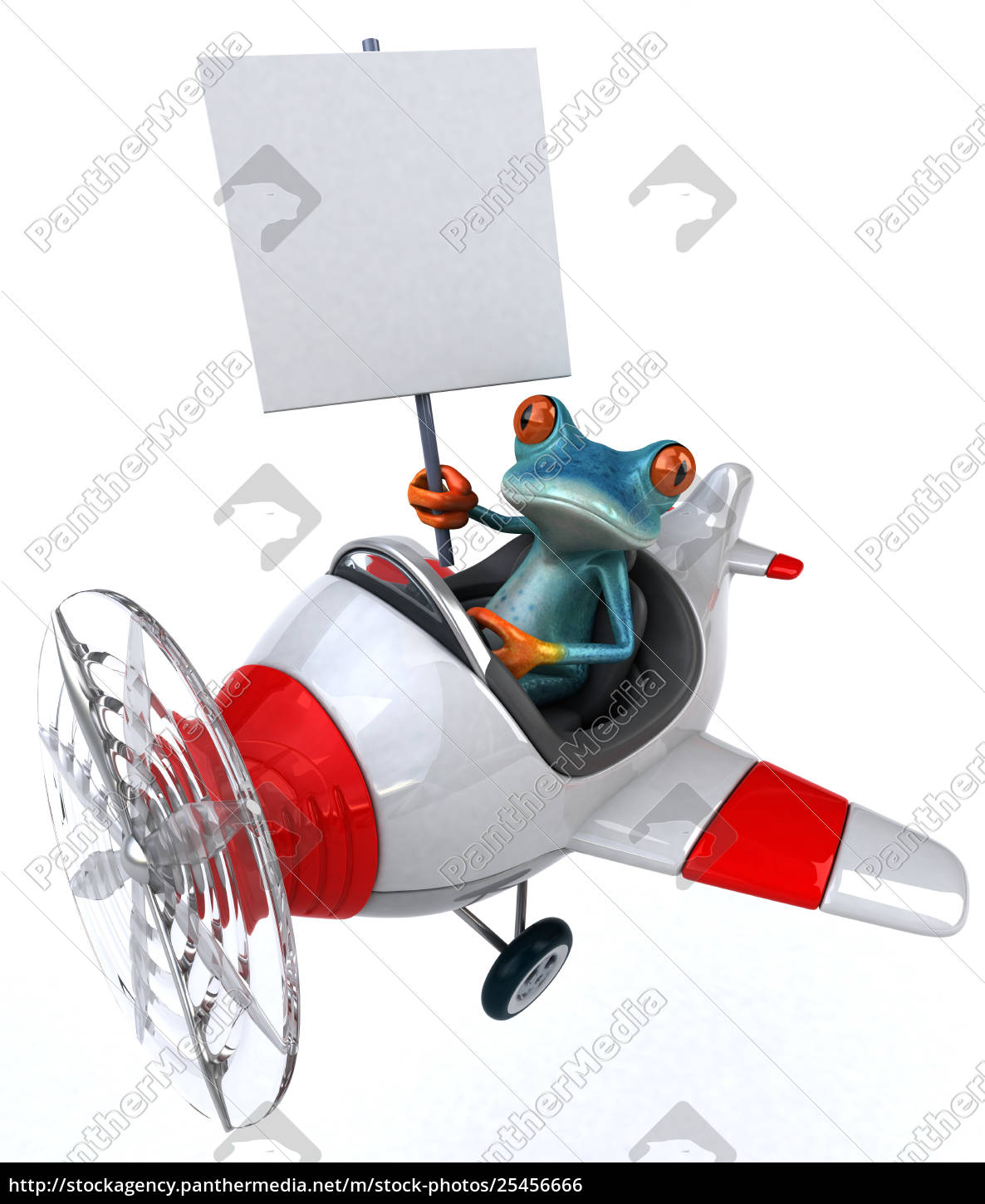 fun, frog, -, 3d, illustration - 25456666