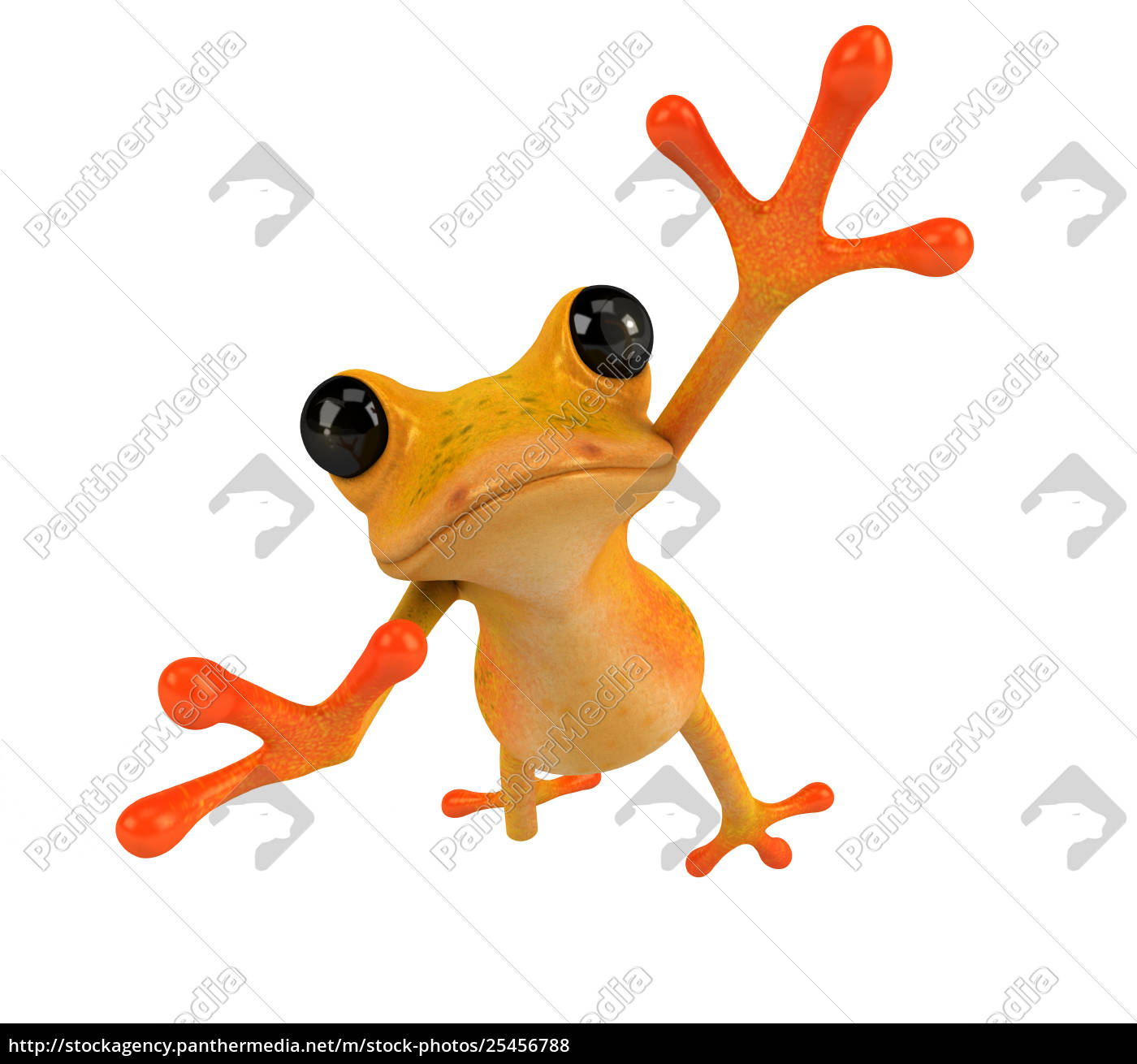 fun, frog, -, 3d, illustration - 25456788