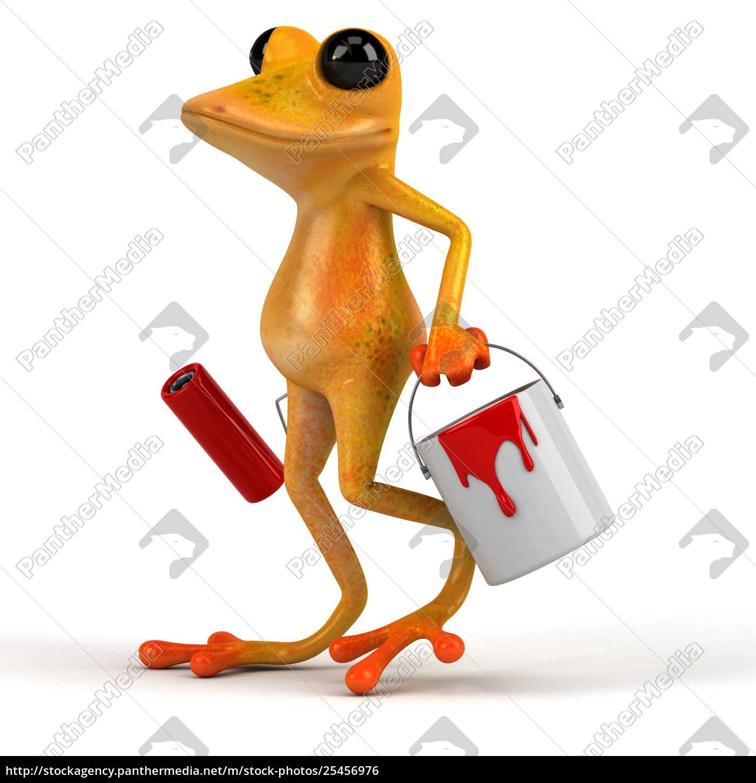 fun, frog, -, 3d, illustration - 25456976
