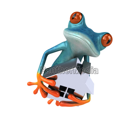 fun, frog-, 3d, illustration - 25456480