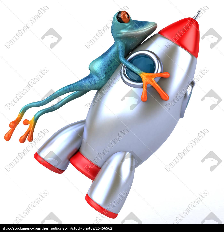fun, frog-, 3d, illustration - 25456562