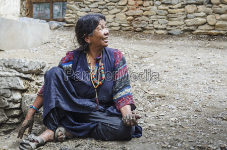 nepal native citizen of chele village