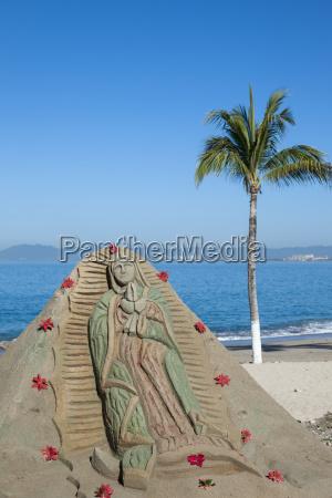 mexico puerto vallarta sand sculpture with