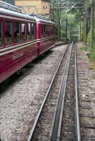 corcovado rack train going to christ