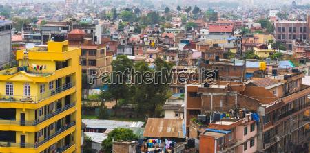 panorama view over kathmandu city