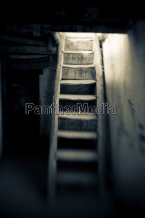 ladakh, , india;, staircase, leading, out, of - 25458688