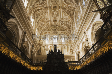 architectural details on the ceiling of