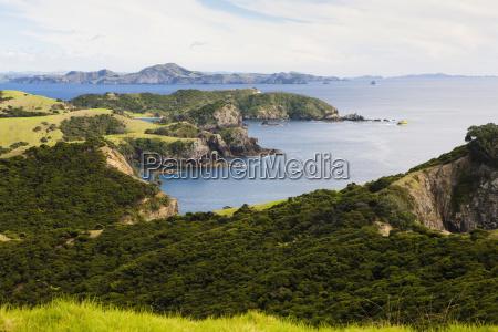 coastline of urupukapuka island one of