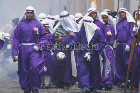 men and boys wear purple as