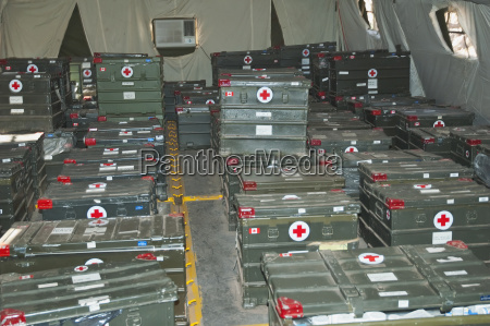 medical supplies in the field hospital