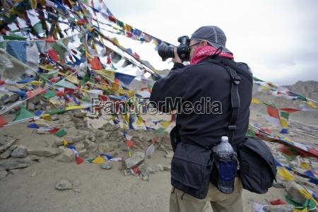 ladakh kashmir india man taking photo