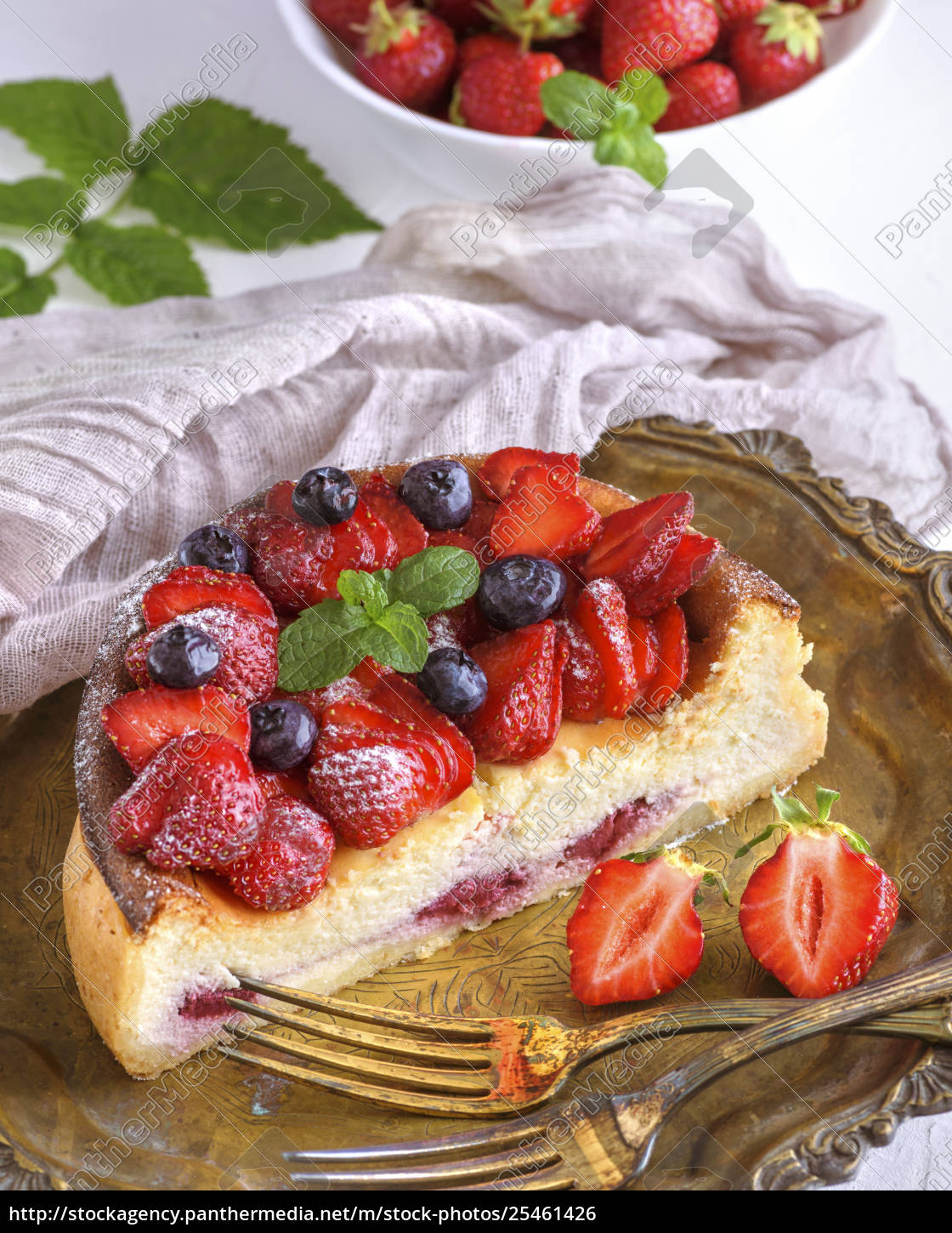cheesecake, made, of, cottage, cheese, and - 25461426
