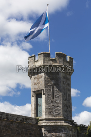 flag of scotland flying on a