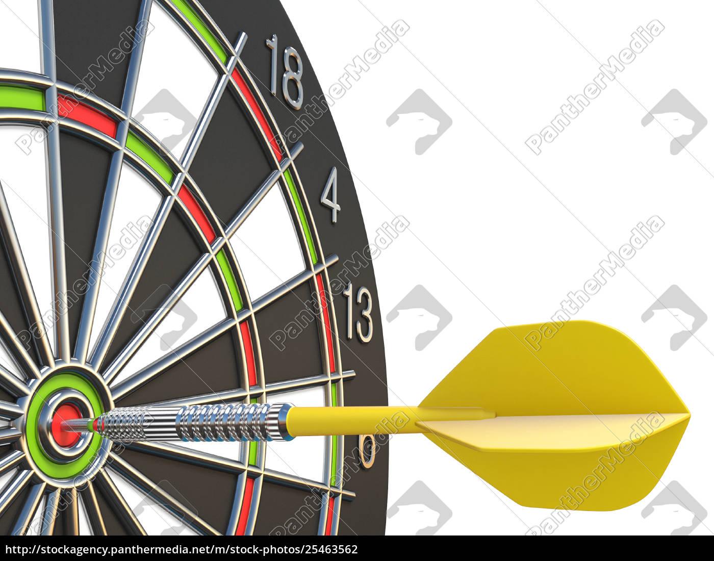 close, up, yellow, dart, arrow, on - 25463562