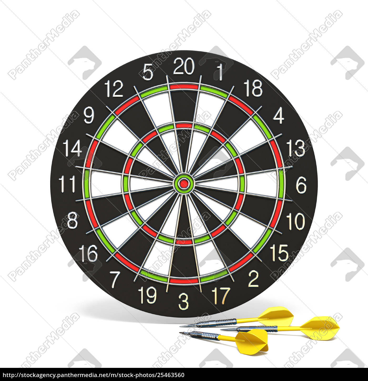 yellow, dart, arrows, in, front, of - 25463560