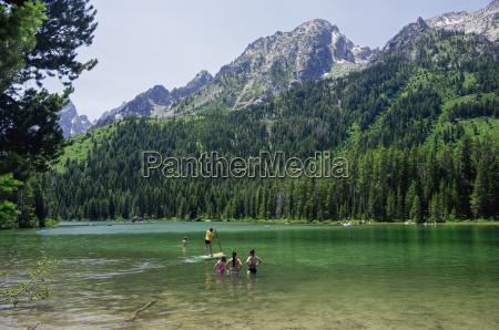 activity on string lake teton national