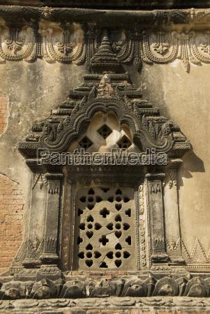 myanmar bagan gubyaukgyi temple architectural detail