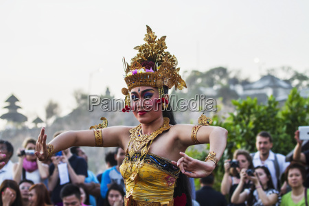 balinese dancers using codified hand positions