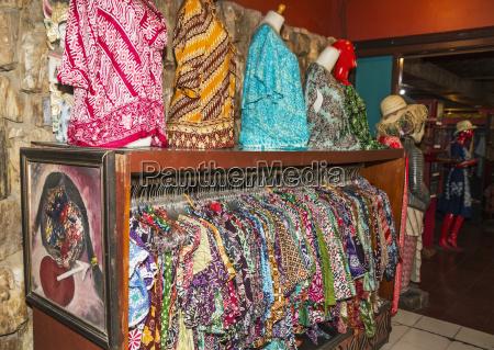 batik shirts on display at saptohoedojo