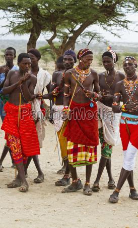 samburu men singing and dancing samburu