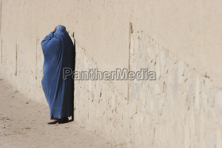 woman wearing a burqa on a