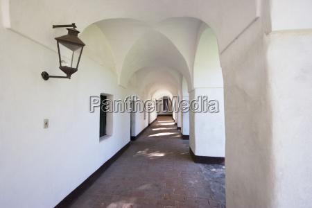 corridor along the courtyard of the