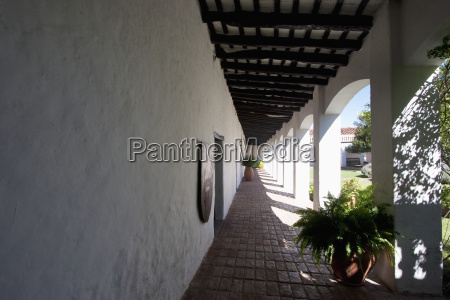 corridor surrounding the courtyard of the
