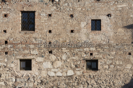 outer walls of the residence of
