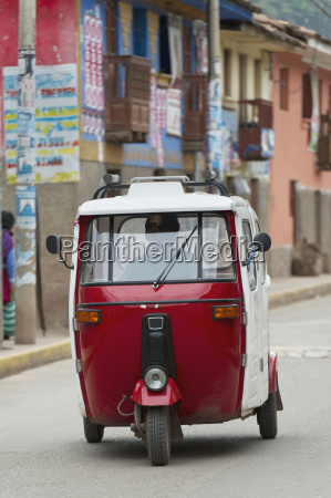 a motorized vehicle traveling down the