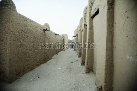street scene at timbuktu mali