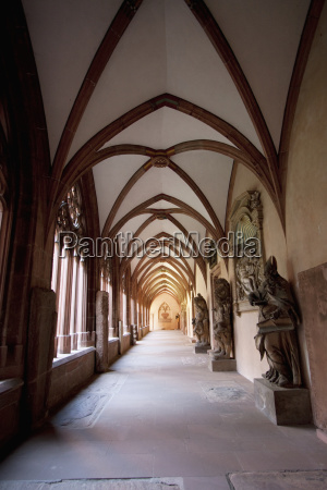 passage along the cloister in the