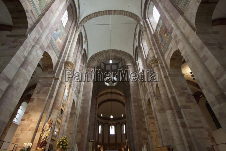 central nave of the speyer cathedral