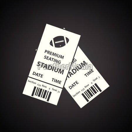 american football tickets icon