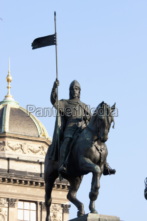 equestrian statue to st wenceslas on